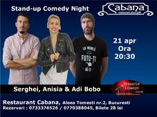 Stand-up comedy cu Anisia Gafton, Serghei & Adi Bobo