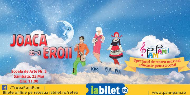 Spectacol de teatru muzical educativ pentru copii: Joaca De-a Eroii