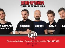 Stand Up Comedy cu Sorin, Sergiu, Toma & Cristi @ Comics Club