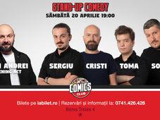 Show #1 - Stand Up Comedy cu Sorin, Sergiu, Toma & Cristi @ Comics Club