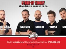 Show #2 - Stand Up Comedy cu Sorin, Sergiu, Toma & Cristi @ Comics Club