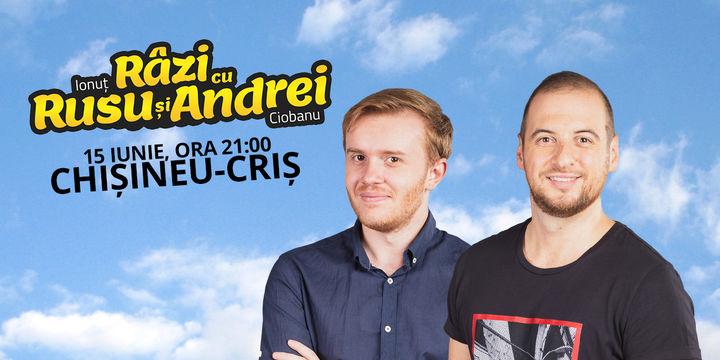 Chișineu-Criș: Stand-up comedy - Râzi cu Rusu și Andrei