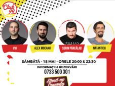 Stand up comedy cu Alex Mocanu, Vio, Natanticu