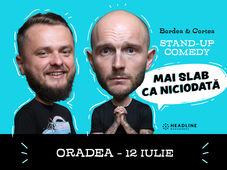 Oradea: Mai slab ca niciodată cu Bordea, Cortea și Florin