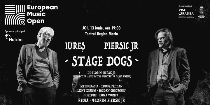 """Oradea: Marcel Iureș/Florin Piersic Jr. """"Stage Dogs"""", Teatrul Act - București"""
