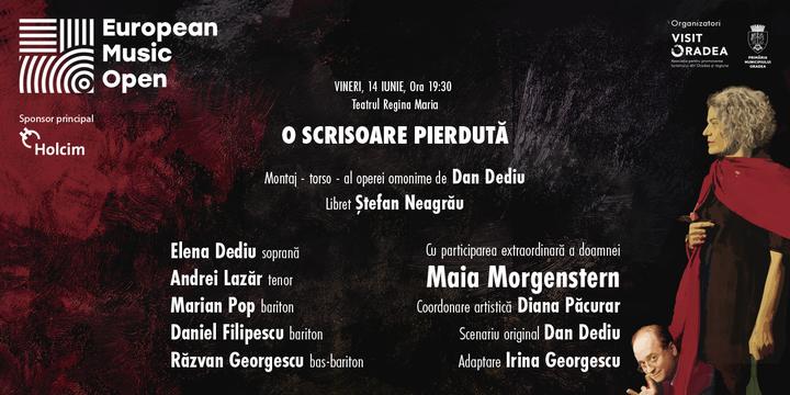 Oradea: Maia Morgenstern/Dan Dediu - O scrisoare pierdută