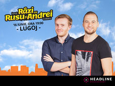 Lugoj: Stand-up comedy - Râzi cu Rusu și Andrei