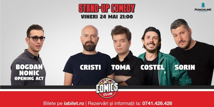 Stand Up Comedy cu Costel, Toma, Cristi & Sorin @ Comics Club