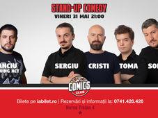 Stand Up Comedy cu Sorin, Sergiu, Toma si Cristi Popesco @ Comics Club