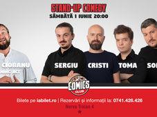 Stand Up Comedy cu Sorin, Sergiu, Toma & Cristi Popesco @ Comics Club