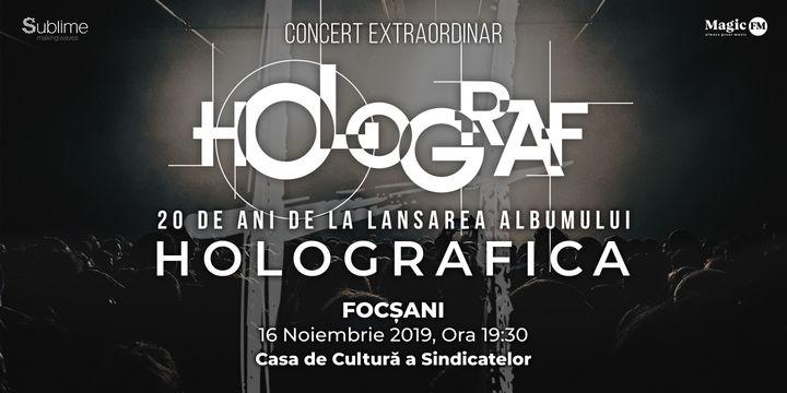 """Focșani: 20 de ani de la lansarea albumului """"Holografica"""""""
