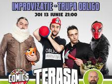 Obligo + Cristi Popescu - Show de Improvizație pe Terasa Comics Club