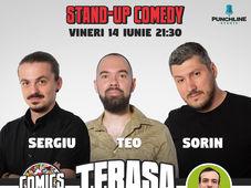 Stand Up Comedy cu Sorin, Teo & Sergiu Floroaia pe Terasa Comics Club