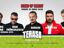 Stand Up Comedy cu Sorin, Micutzu și Sergiu pe Terasa Comics Club