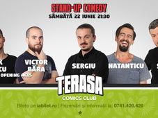 Stand Up Comedy cu Sorin, Natanticu și Sergiu pe Terasa Comics Club