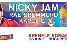 Nicky Jam, Rae Sremmurd & Karol G. la Arenele Romane