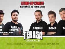 Stand Up Comedy cu Sorin, Toma & Sergiu pe Terasa Comics Club