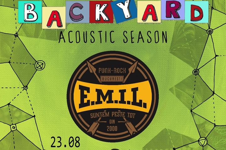 "EMIL & The Different Class canta pe terasa ""In spatele casei"" la Backyard Acoustic Season Timisoara"