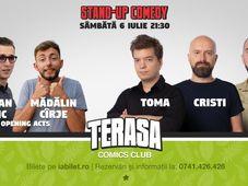 Stand Up Comedy pe Terasa Comics cu Teo, Toma & Cristi Popescu