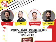 Stand up comedy cu Teo, Gabriel Gherghe și Costel și invitat în deschidere