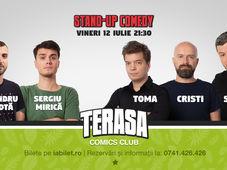 Stand Up Comedy cu Sorin, Toma & Cristi Popesco pe Terasa Comics Club