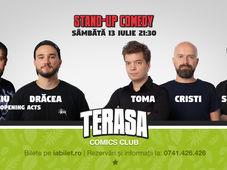 Stand Up Comedy cu Toma, Sergiu & Cristi Popesco pe Terasa Comics Club