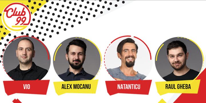 Stand up comedy cu Vio, Alex Mocanu și Natanticu si invitat în deschidere