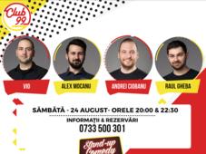 Stand up comedy cu Vio, Andrei Ciobanu si Alex Mocanu în deschidere