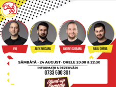 Stand up comedy cu Vio, Raul Gheba, Andrei Ciobanu si invitat în deschidere