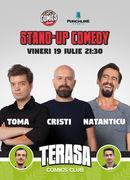 Stand Up Comedy cu Natanticu, Toma & Cristi Popesco pe Terasa Comics Club