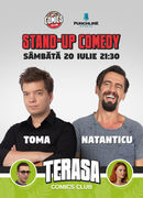 Stand Up Comedy cu Toma & Natanticu pe terasa Comics Club