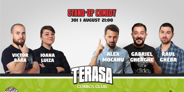 Stand Up Comedy cu Mocanu Raul & Gherghe pe terasa Comics Club