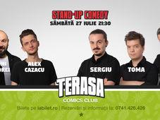 Stand Up Comedy cu Sergiu, Toma & Sorin pe Terasa Comics Club