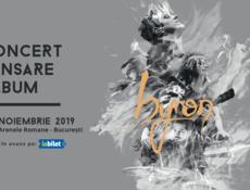 byron lansează noul album de studio pe 9 noiembrie la Arenele Romane