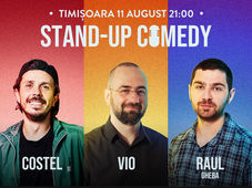 Stand Up Comedy cu Costel, Vio & Raul Gheba - Terasa Anturaj - Timișoara