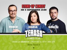 Stand-up cu Maria, Mincu & Banciu pe Terasa Comics Club