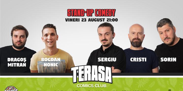 Stand up cu Cristi, Sergiu și Sorin pe Terasa Comics Club