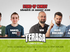 Stand-up cu Vio, Alex Mocanu & Raul Gheba pe Terasa Comics Club