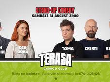 Stand-up cu Toma, Cristi & Sergiu pe Terasa Comics Club