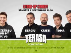 Stand-up cu Toma, Cristi, Sergiu & Sorin pe Terasa Comics Club