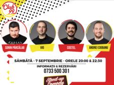 Stand up comedy cu Andrei Ciobanu, Vio, Costel si invitat în deschidere