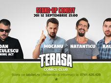 Stand-up cu Mocanu, Natanticu și Raul Gheba pe Terasa Comics Club