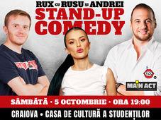 Craiova: Stand-up Comedy RUX cu Rusu si Andrei
