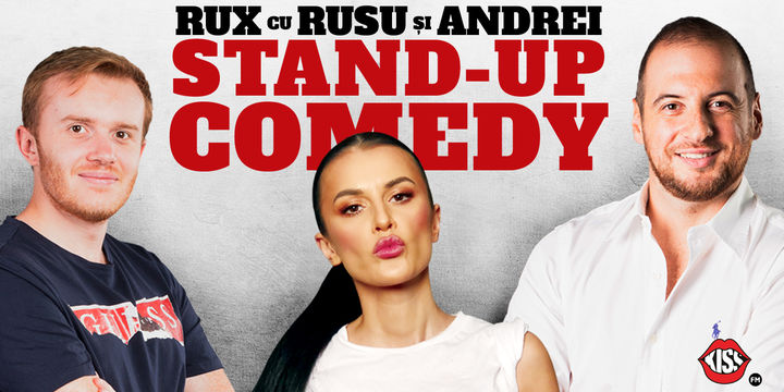 Vaslui: Stand-up Comedy RUX cu Rusu si Andrei