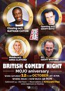 British comedy night   Mojo Aniversary