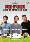 Stand-up cu Mocanu, Natanticu și Sorin pe Terasa Comics Club