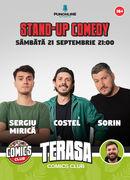 Stand-up cu Sergiu Mirică, Costel și Sorin pe Terasa Comics Club