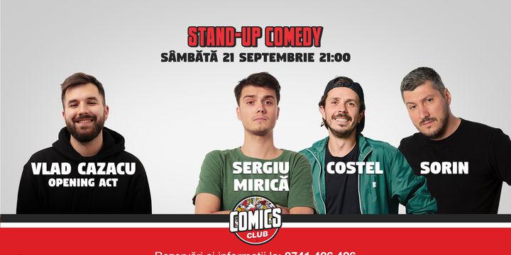 Stand Up Comedy cu Costel, Sorin Pârcălab și Sergiu Mirică @ Comics Club