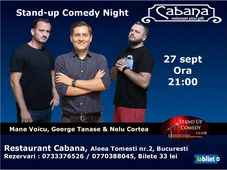 Stand Up Comedy Night cu George Tanase, Mane Voicu & Nelu Cortea