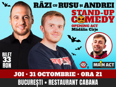 Halloween Stand-up Comedy Night cu Rusu si Andrei